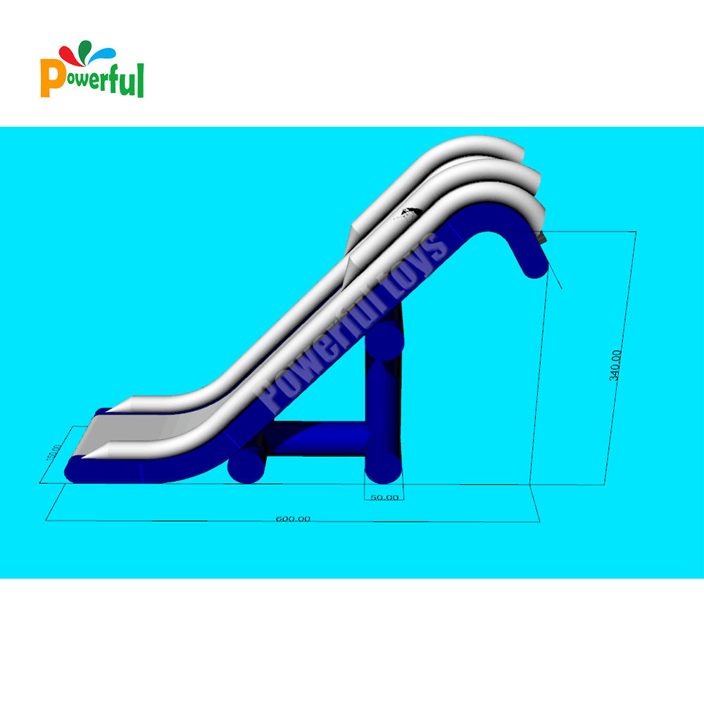 0.9mm PVC tarpaulin infltable yacht water slide houseboat slide for ocean party