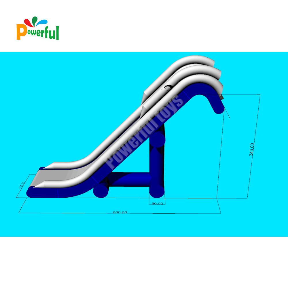 0.9mm PVC tarpaulin infltable yacht water slide houseboat slide for ocean party