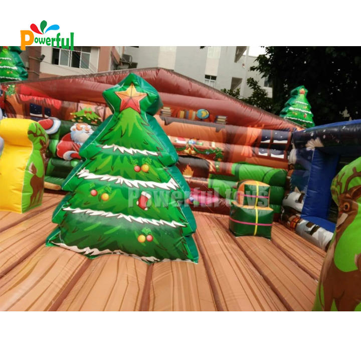 Inflatable jumping bouncer for Christmas