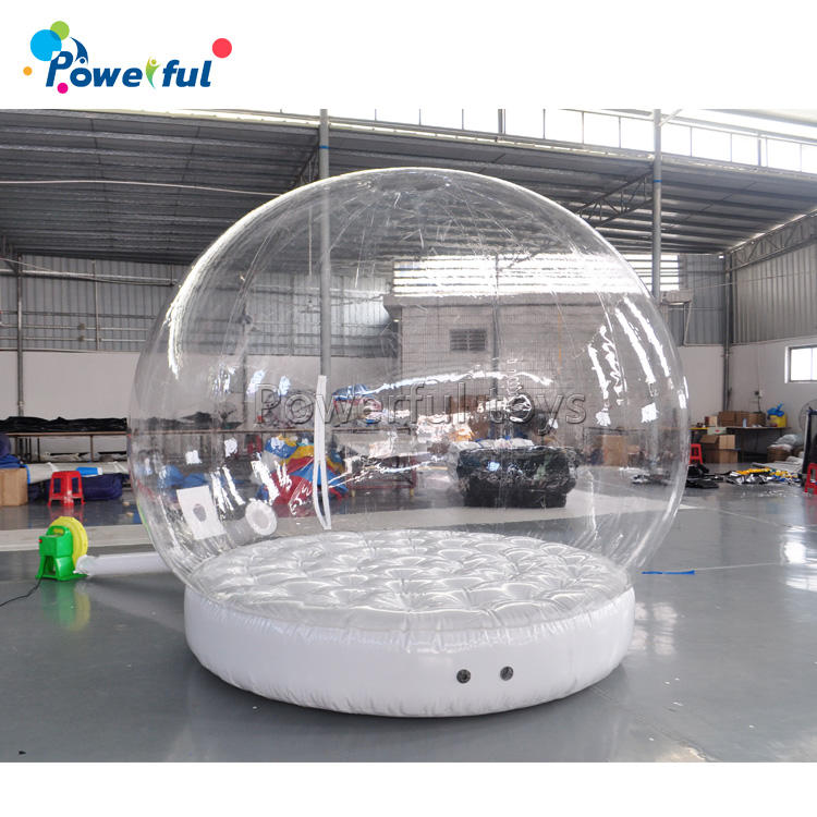 3m transparent inflatable bubble snow globe tent for Christmas decorations