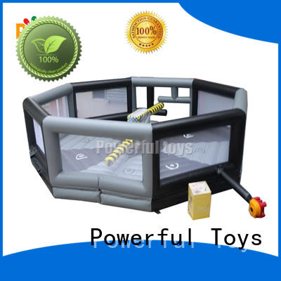 Powerful Toys high quality wipeout inflatable light weight for amusement park