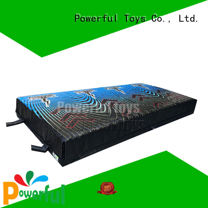 Powerful Toys OEM airbag trampoline cheapest factory price for sale