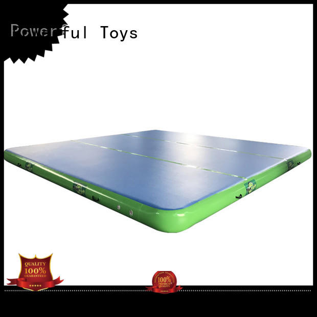 Powerful Toys air track trampoline mattress floor