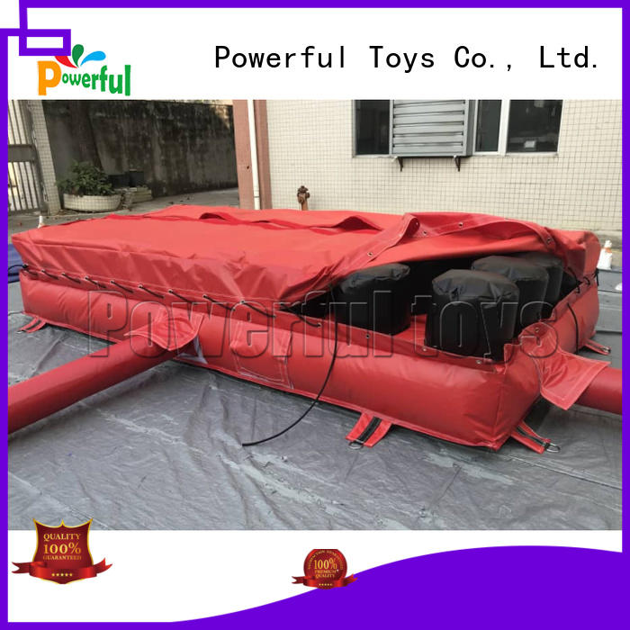 Powerful Toys wholesale jump air bag stunt hall