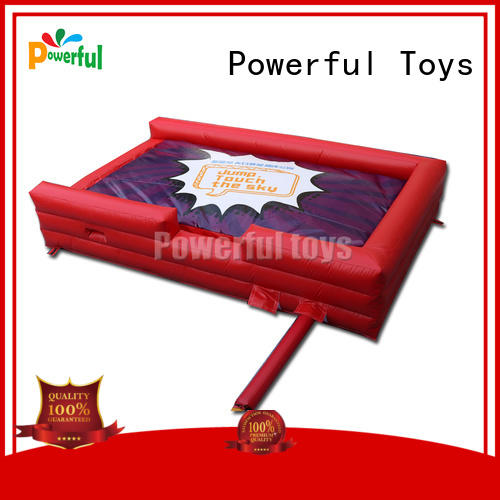 Powerful Toys mini jump trampoline park cheapest factory price for sale
