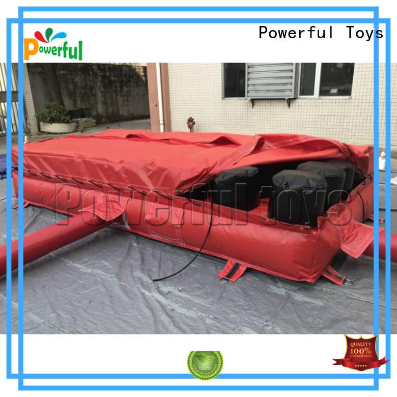 trampoline air track foam slide