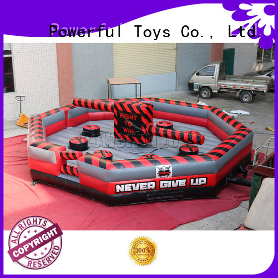 Powerful Toys high quality wipeout inflatable outdoor for fun
