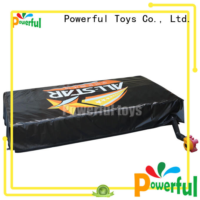 Powerful Toys inflatable air track mat slide