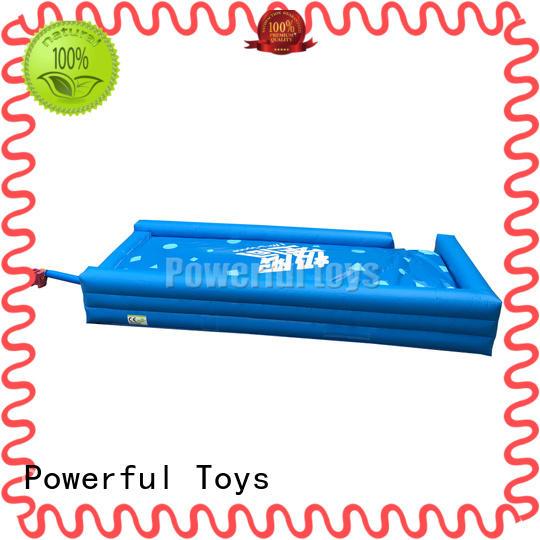 Powerful Toys inflatable jump air bag mat slide