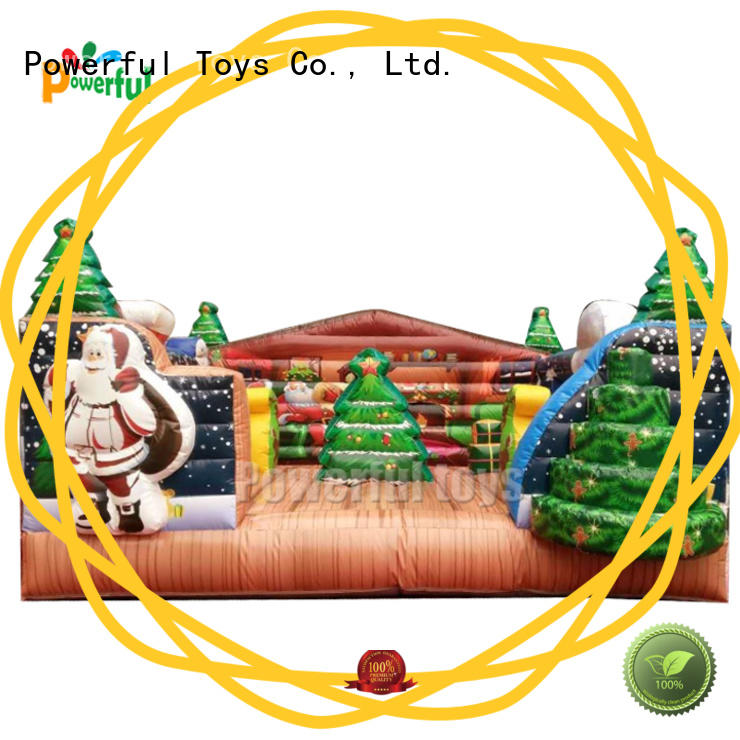 Powerful Toys high-quality inflatable bouncy castle top selling for customization