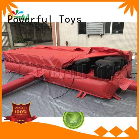 Powerful Toys hall jump air bag jump kick