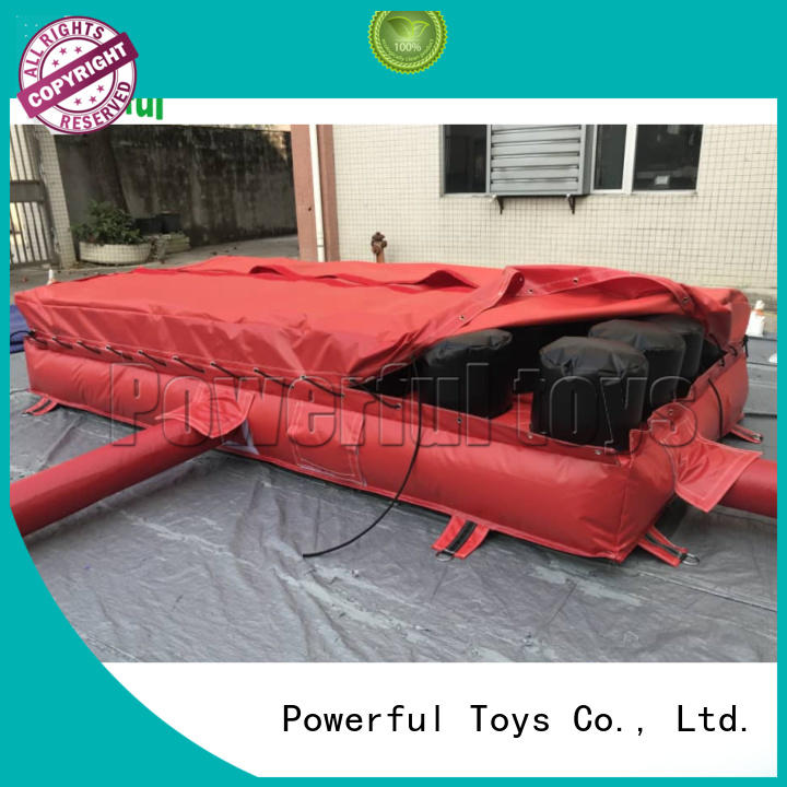 airbag trampoline at discount for sale