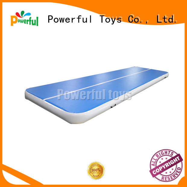 Powerful Toys mini air track gymnastics mat for cheer leading