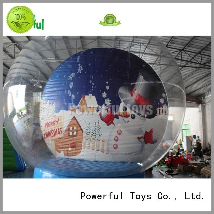 Inflatable snow globe for Christmas decoration