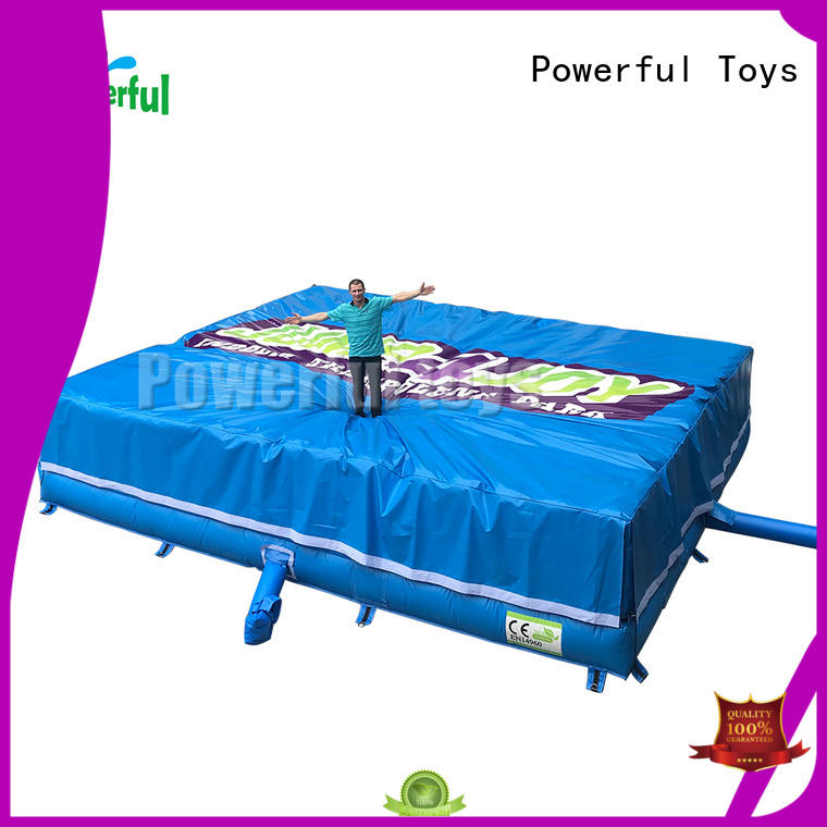 Powerful Toys customized air trampoline air cushion for wholesale