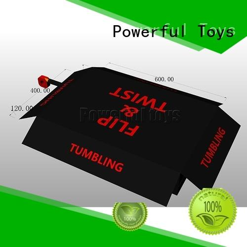Powerful Toys airbag trampoline free delivery for amusement park