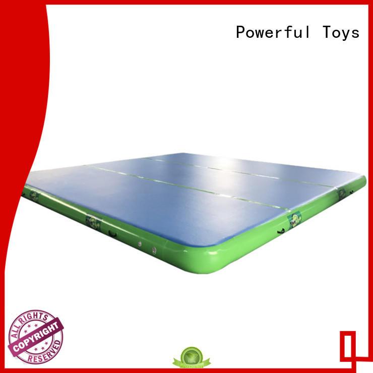 Powerful Toys gymnastics air track trampoline for club