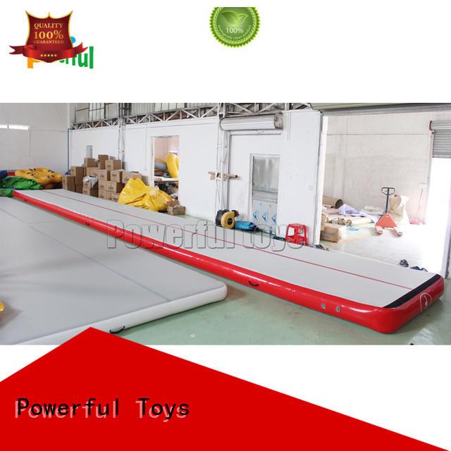 kick slide air track gym hall Powerful Toys