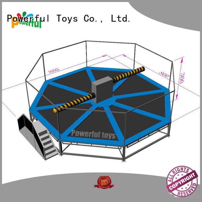 Powerful Toys high quality wipeout inflatable light weight for fun
