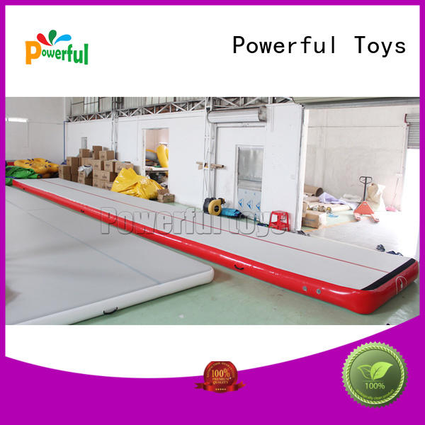 Powerful Toys inflatable air track at discount